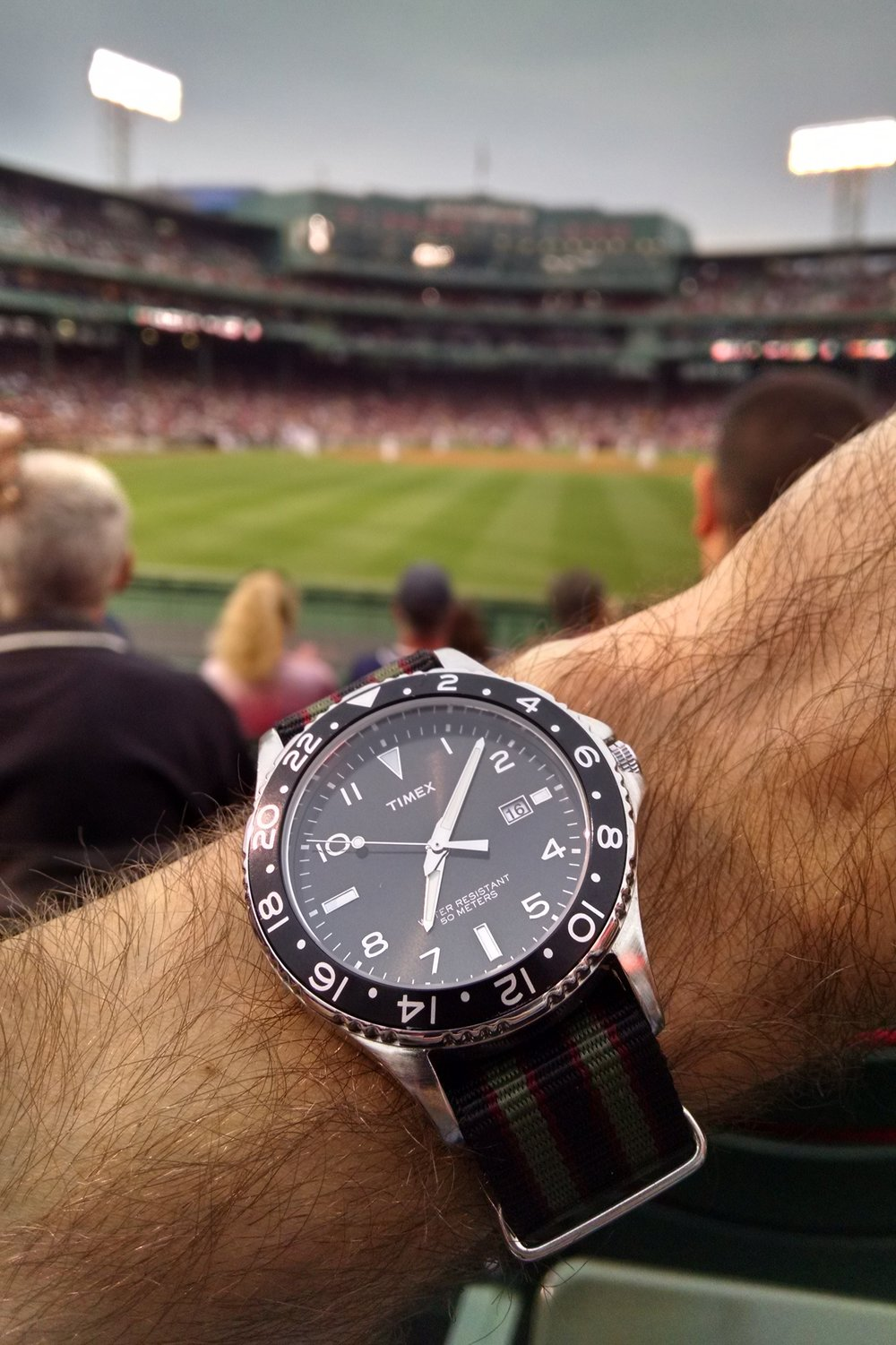 Timex submariner at Fenway Park  Boston, Massachusetts