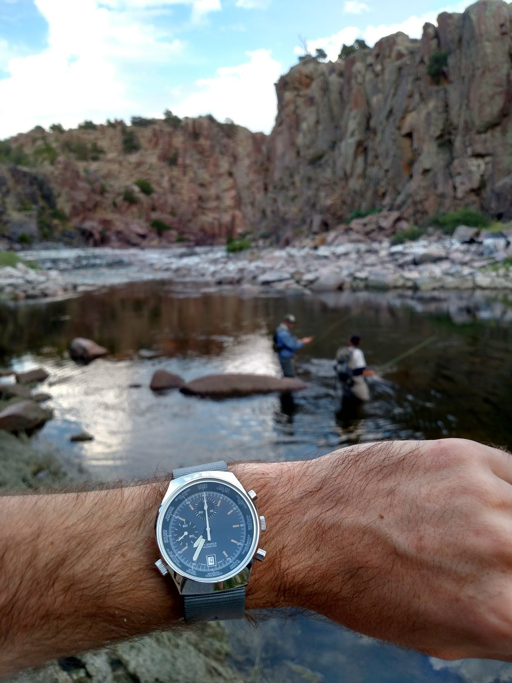 BOT Speed world timer at Fremont Canyon on the North Platte River  Near Alcova, Wyoming