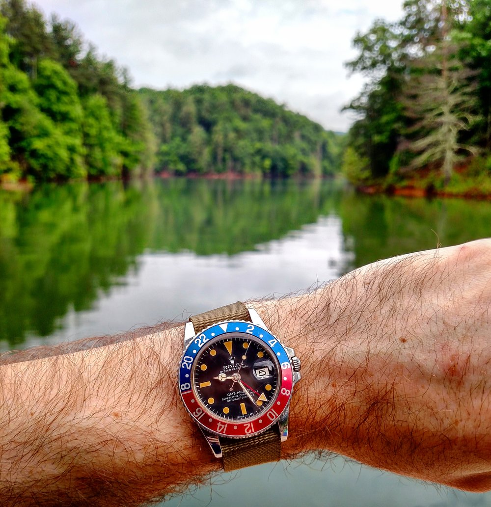 1977 Rolex GMT Master at Watauga Lake  Butler, Appalachian Mountains, Tennessee