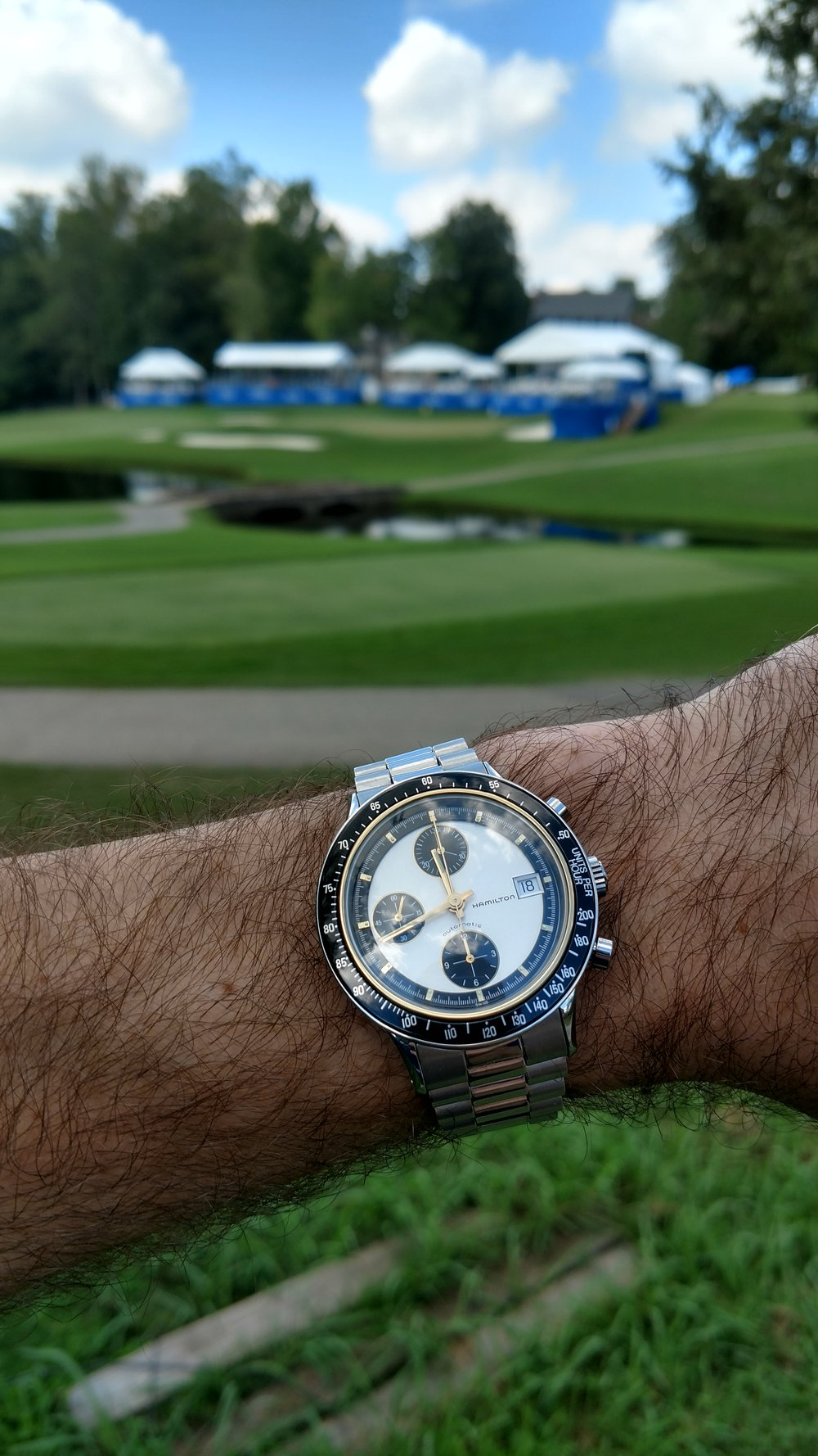 Circa 1990 Hamilton ChronoMatic II at Sedgefield Country Club for the Wyndham Championship  Greensboro, North Carolina