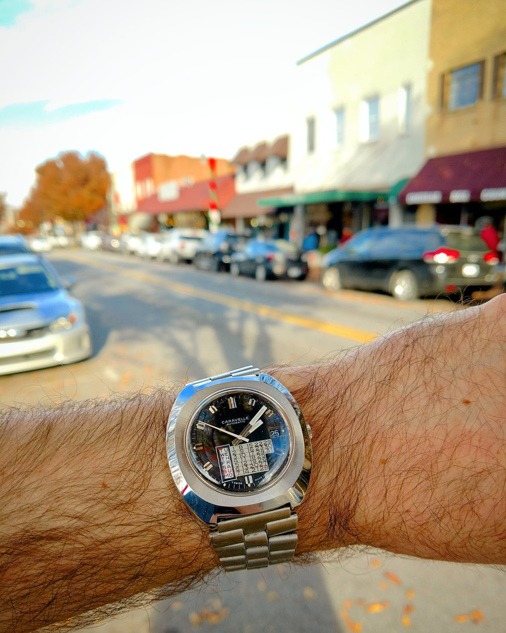 1974 Caravelle Perpetual Calendar in downtown Waynesville  Waynesville, Blue Ridge Mountains, North Carolina