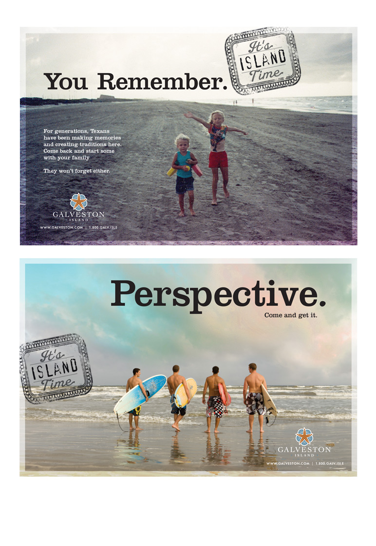 Print ads. Beach tourism.