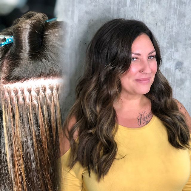 You know what's more magical than these extensions?! My clients! I get to give good hair and in return I get to spend hours with inspiring women that are changing the future. @sylviaathey you're an absolute inspiration ✨ #ilysm @thairapypdx @greatlengthsusa @behindthechair_com #lyndsaymaderishair #behindthechair #howiwearmygl