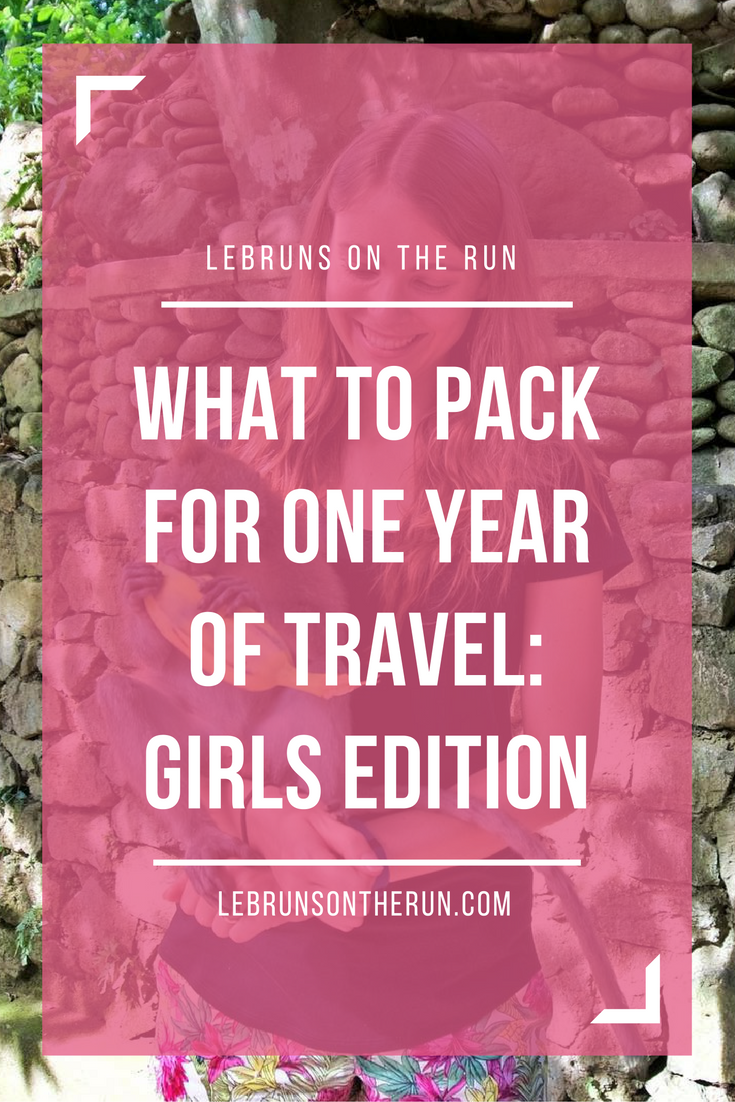 What to pack for one year of travel: Girl's edition. Great packing tips for female backpackers!