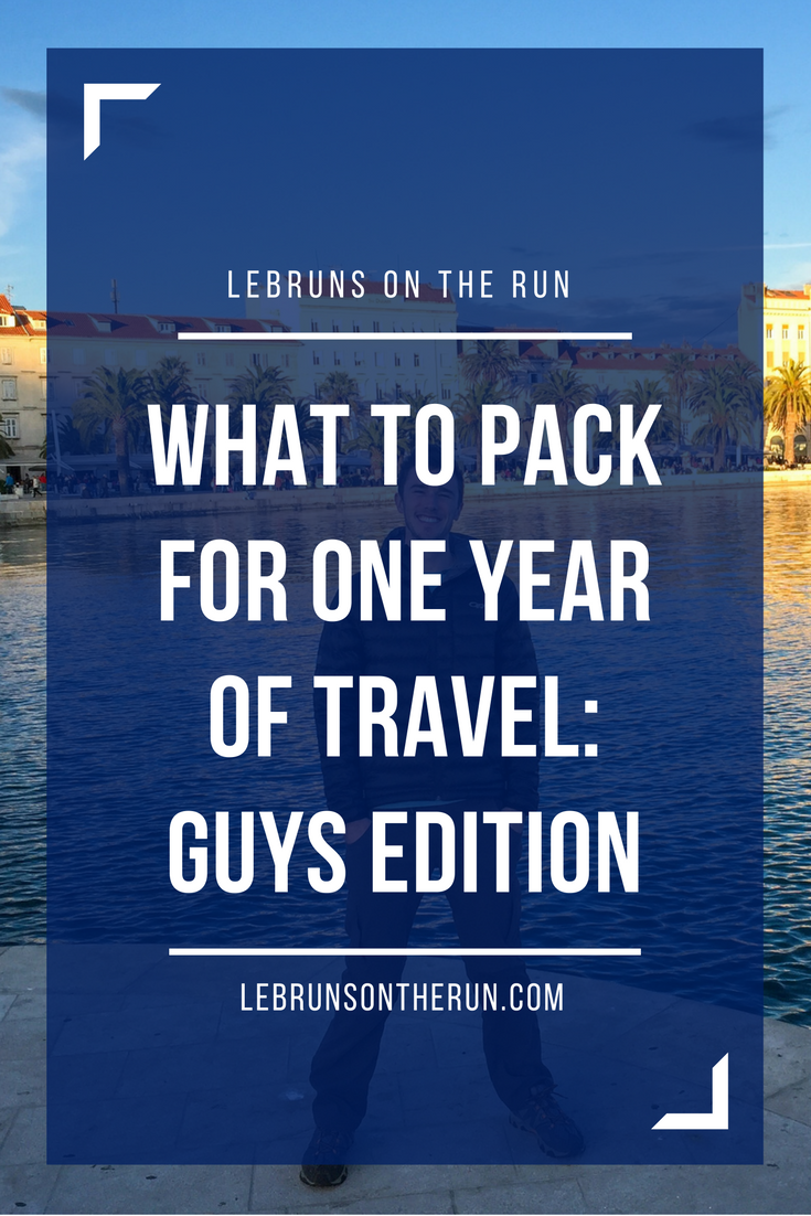 What to pack for one year of travel: guys edition. Great packing trips for backpackers!