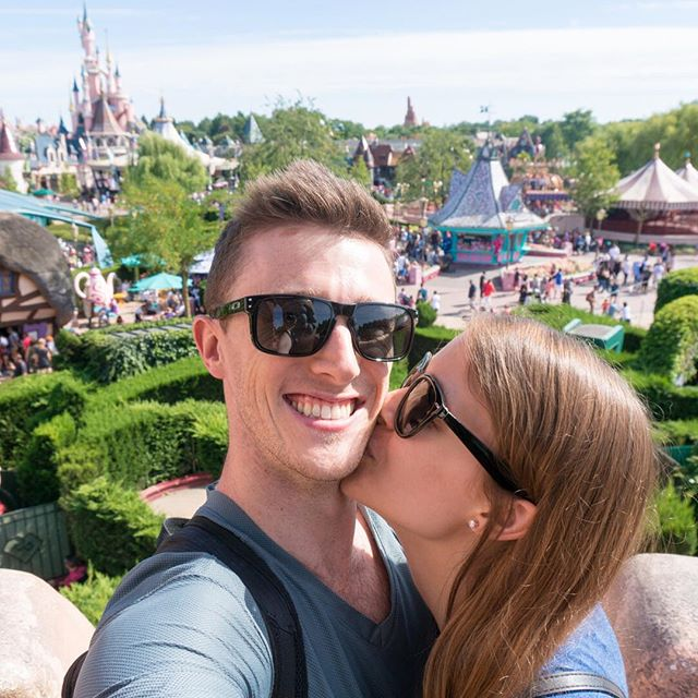 ⏪ Rewind to Day 80: We celebrated our first wedding anniversary at Disneyland Paris. 💛 This was taken a few months ago, but October 30 is also a big day for us. As of today, we have been together for SEVEN YEARS! It's been the sweetest seven yet. #365daysoftravels