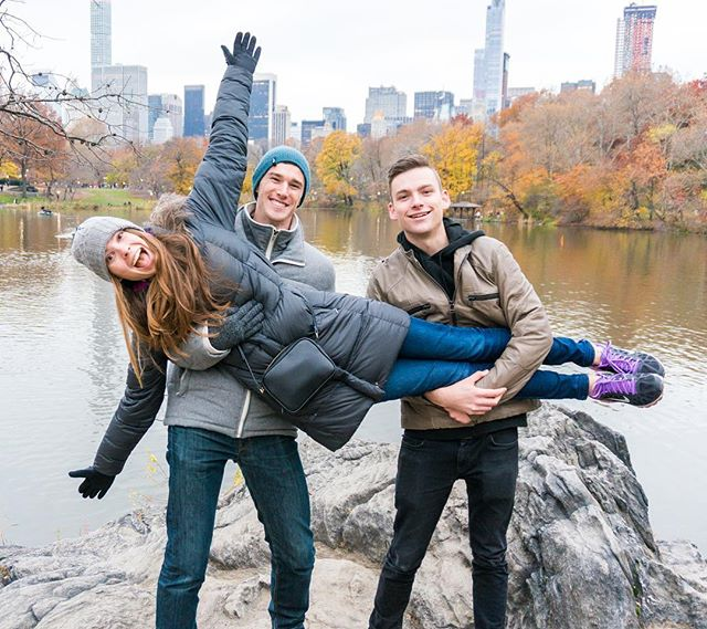 Day 183: Sibling fun in Central Park. 🙃 Spoiler alert... We came to the US! We paused our #365daysoftravels for an American intermission. Lauren's mom smooth-talked us into flying to New York for Thanksgiving to spend the holiday with her and Lauren's brother. We couldn't resist the offer. On Thanksgiving afternoon, we walked 2 miles of Central Park from the north entrance all the way down to Strawberry Fields. It felt so nice to breathe fresh air, get some exercise, and be together as a family. ❤️🦃