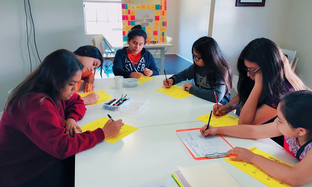 Workshop Participants from Girls Today, Women Tomorrow located in Los Angeles, CA!
