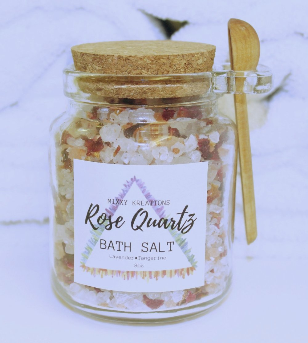 Rose Quartz Bath Salt by Mixxy Kreations, $18.00