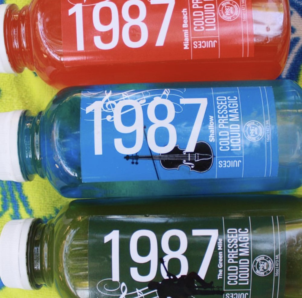 3 Day Organic Juice Cleanse by 1987 Juices, $125.00