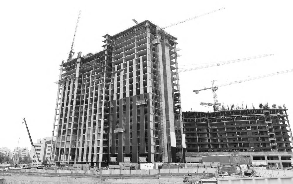 Construction of Kaleidoscope Tower, Abu Dhabi, UAE