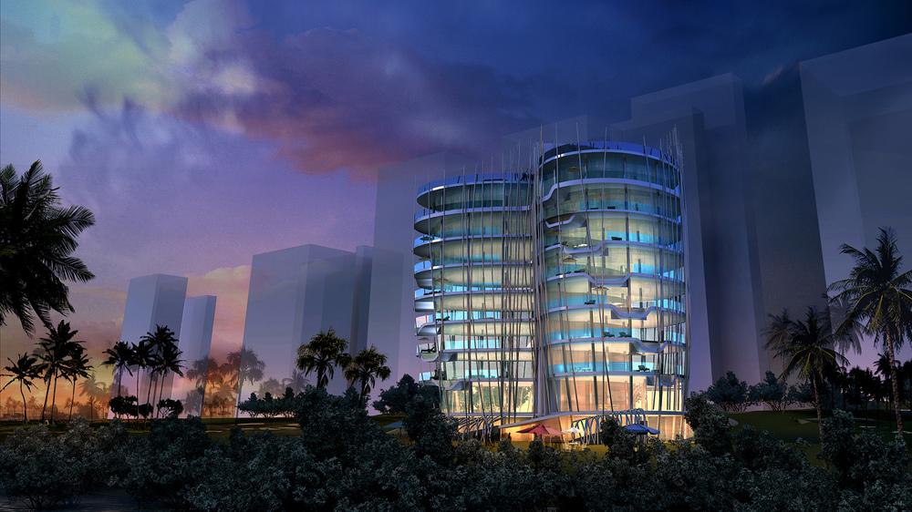 Mangroove Elite Residence BEAD night View.JPG