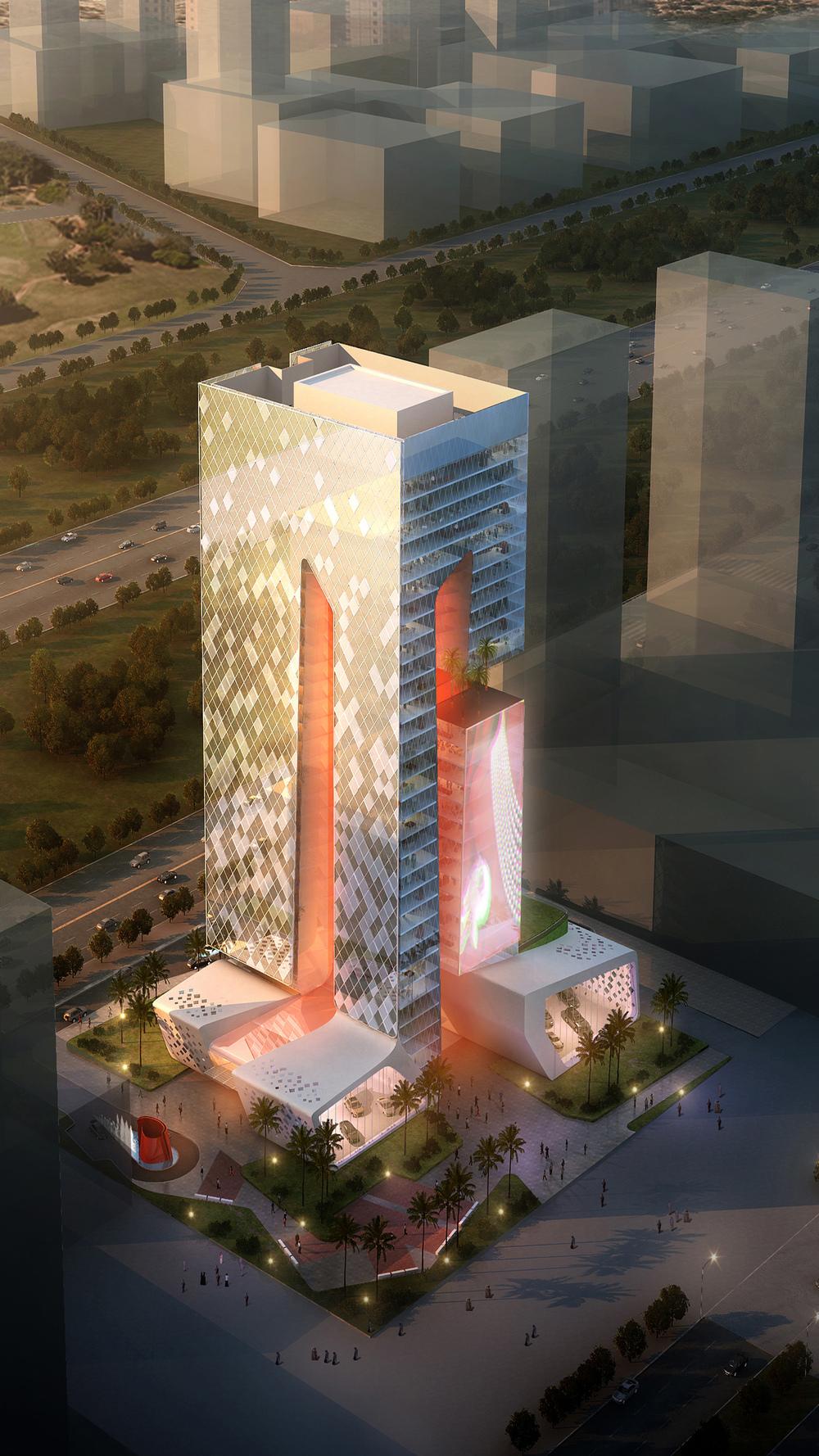 lusail tower BEAD doha Qatar dusk view.JPG