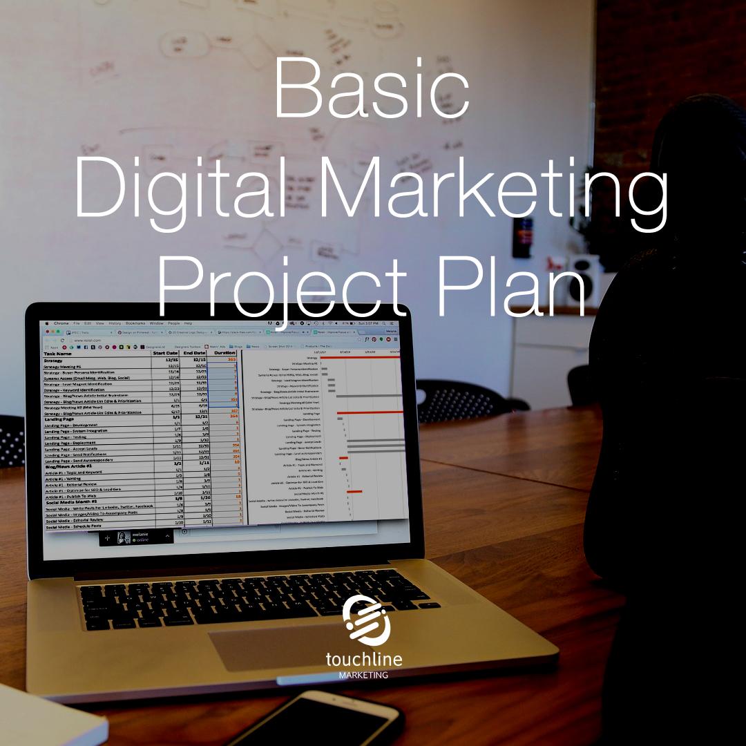 Basic Digital Marketing Project Plan