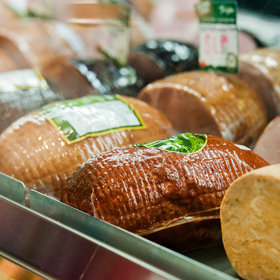 DELI  Perfect for a sandwich or party platter. At our deli counter you'll find locally smoked ham, 100% meat sausages, and traditional salami air-dried for up to five weeks.