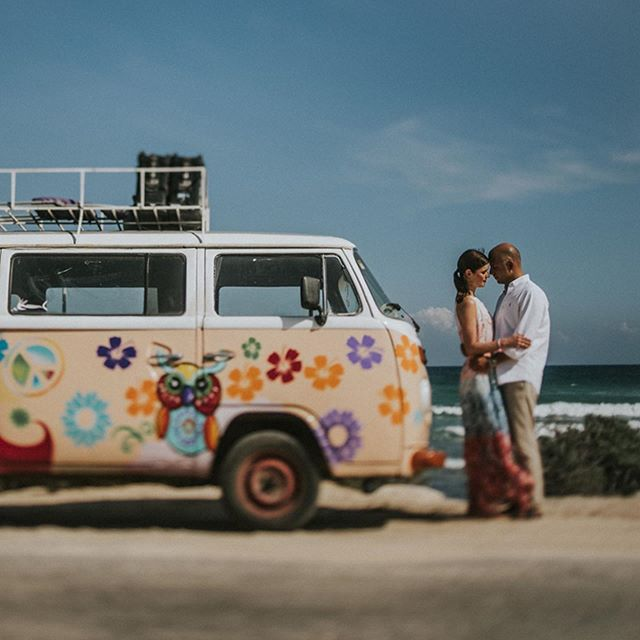 #mexico #tulum #bulli #vw #wedding #weddingphotographer #destinationweddingphotographer #summer #flowerpower