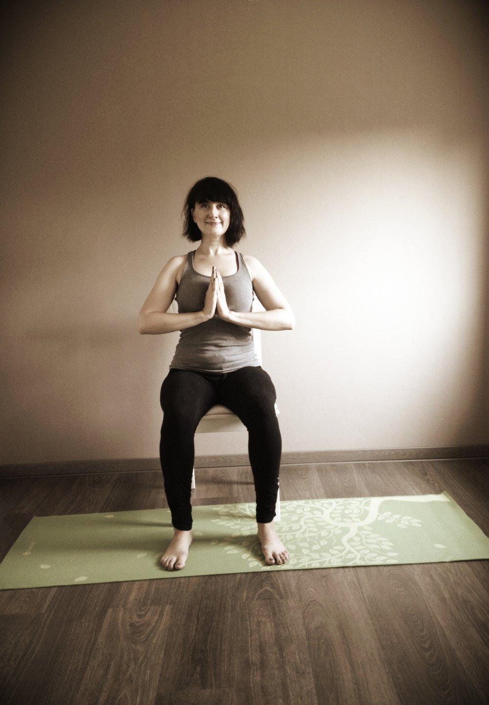 Adem een paar keer diep in en uit  en concentreer u op het geluid van uw ademhaling.