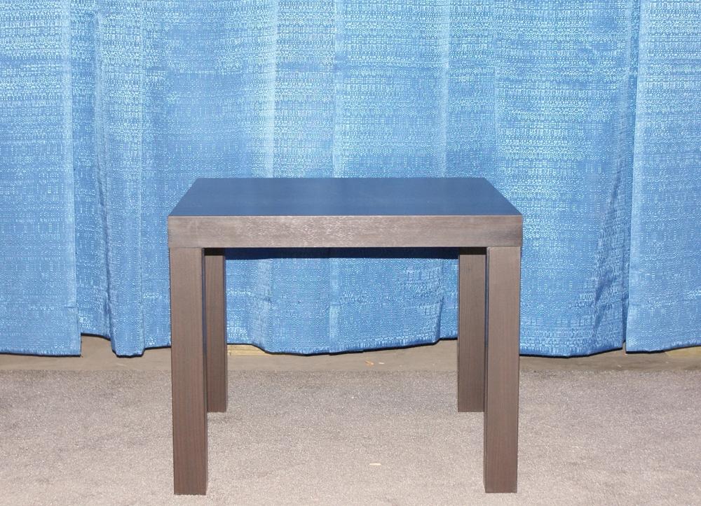 Square coffee table - black