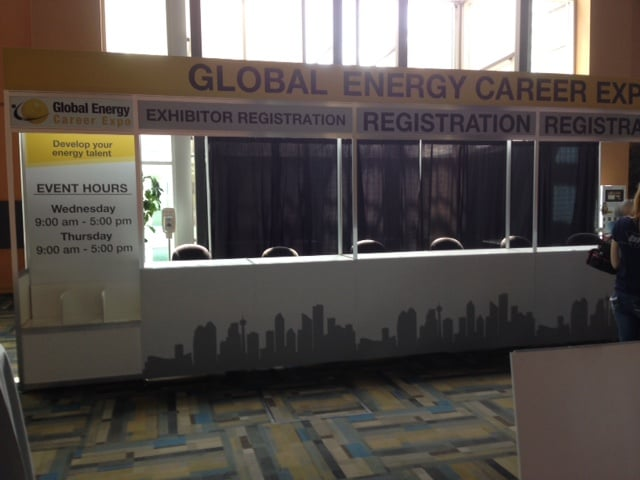 Gobal Energy Career Expo Octanorm Registration Counters