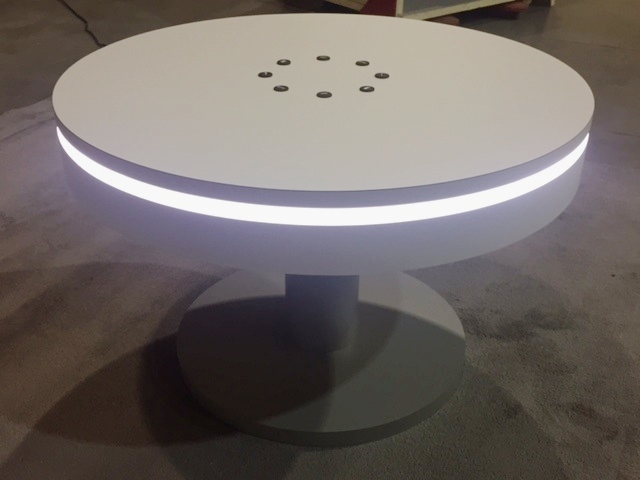 Coffee table charging station