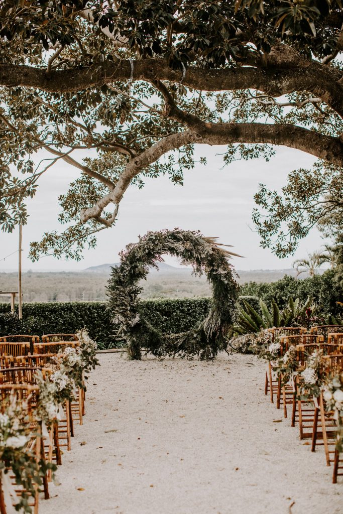 Beautiflora floral styling at a Byron Bay wedding at Figtree, Ewingsdale. Photo by Nina Claire Photography