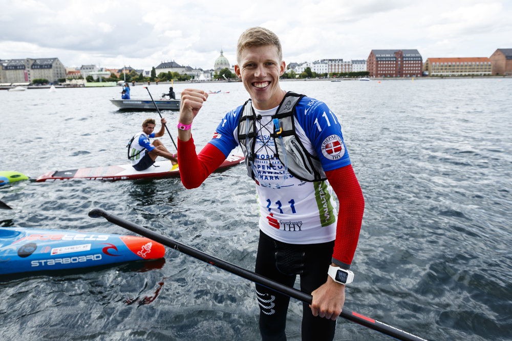Hungary's Bruno Hasulyo, put on a stunning display of SUP racing to become a first-time ISA World Champion on the Men's Distance Race.