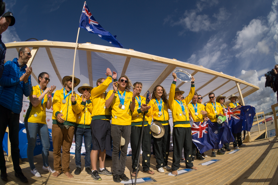 Team Australia capped off a historic week of competition in Denmark and continued their dominance in the ISA World SUP and Paddleboard Championship.  Photo:  ISA / Sean Evans
