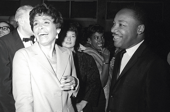 Lena Horne and Dr. Martin Luther King, Jr. at a party Ms. Horne gave in Dr. King's honor in 1963.