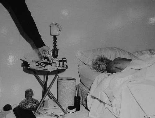 Marilyn Monroe's death bed, 1962
