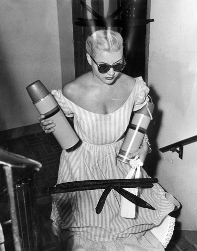 Barbara Payton entering California Hospital to see Franchot Tone after his fight with Tom Neal, 1951, Photo Courtesy of Los Angeles Herald Examiner Collection/Los Angeles Public Library
