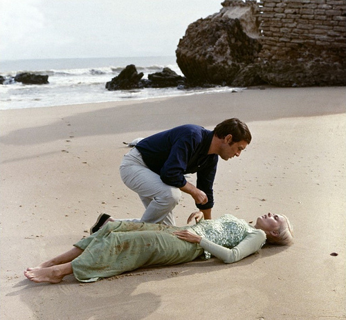 Maurice Ronet and Jean Seberg in Birds in Peru (1968)