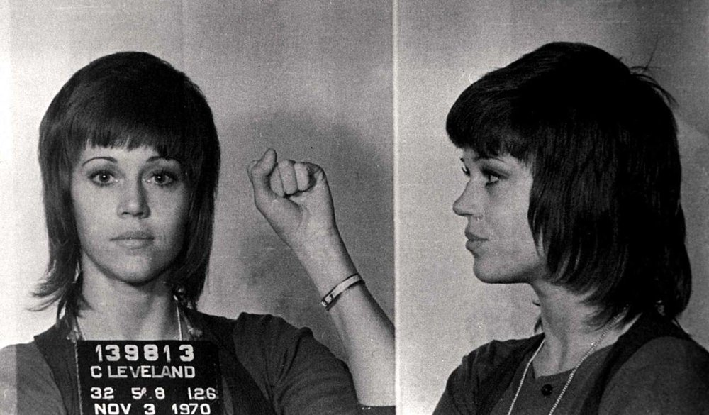 Jean Fonda, Mugshot, 1970
