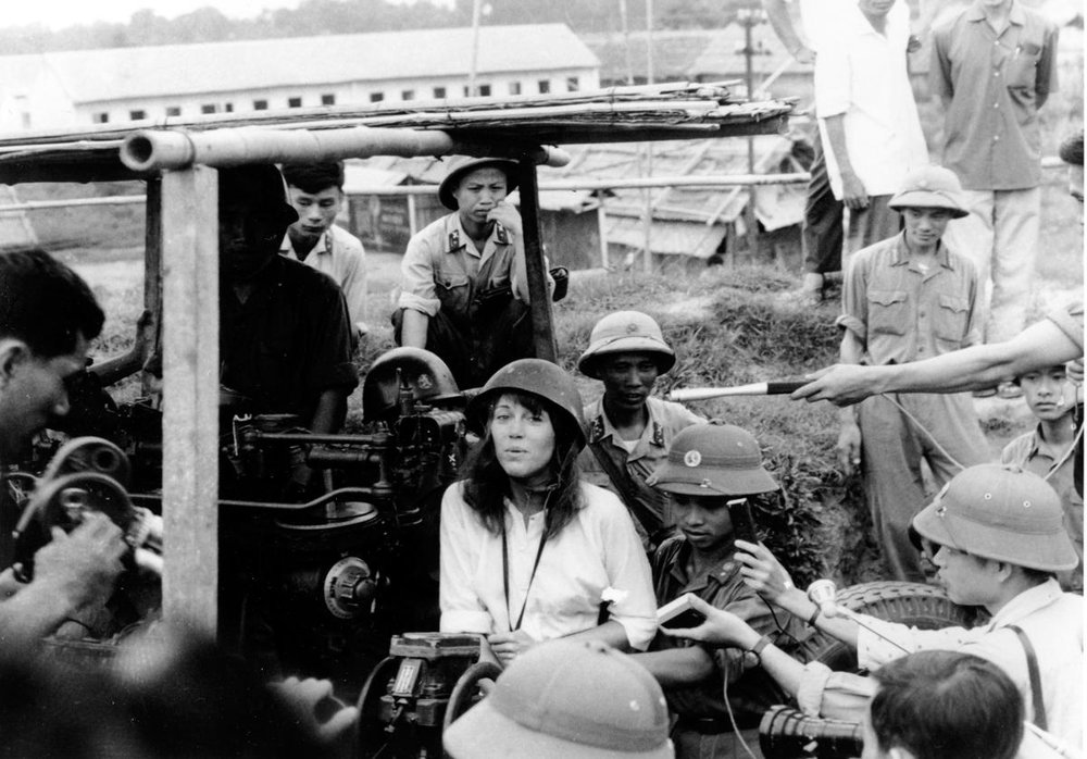 Jane Fonda during her 1972 visit to Hanoi, North Vietnam