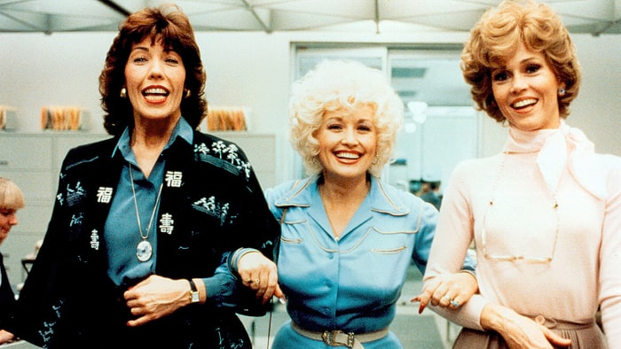 Lily Tomlin, Dolly Parton and Jane Fonda 9 to 5, 1980