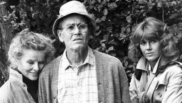 Katharine Hepburn, Henry Fonda and Jane Fonda  On Golden Pond , 1981
