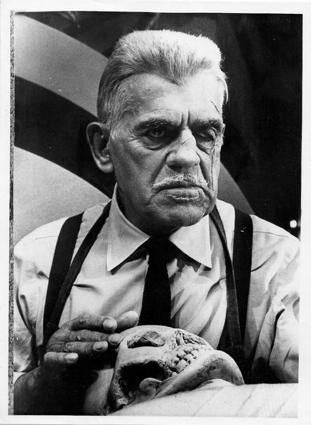 Boris Karloff in  Frankenstein 1970 , 1958
