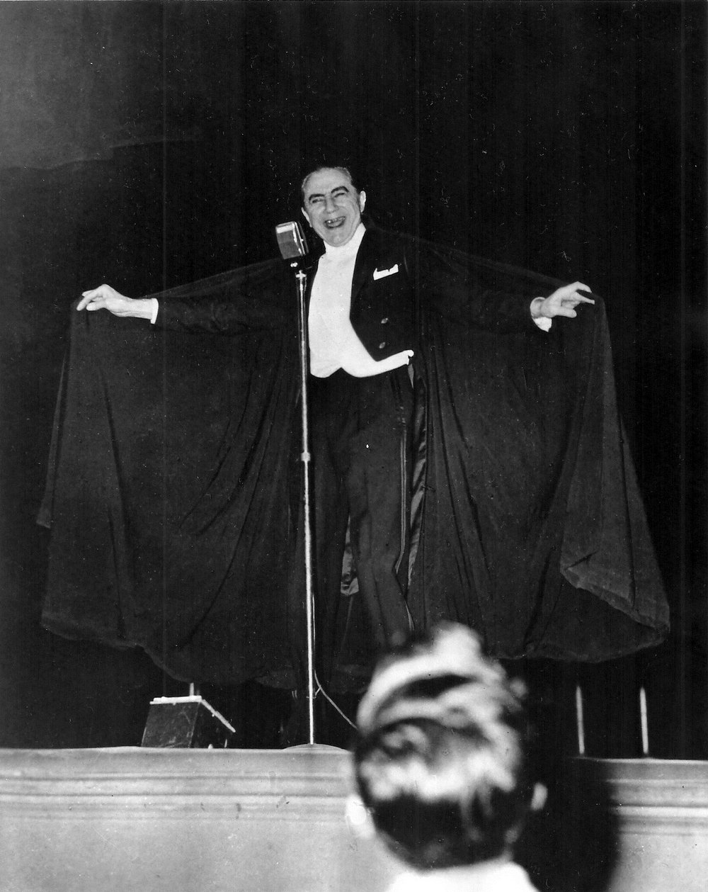 Bela Lugosi during a 1950's stage show.