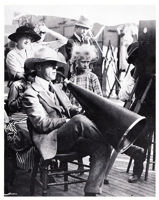 D.W. Griffith on set, c. 1918