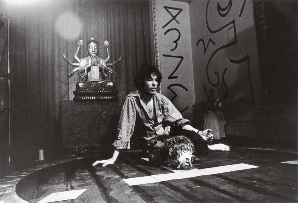 Kenneth Anger on the set of  Lucifer Rising , 1970