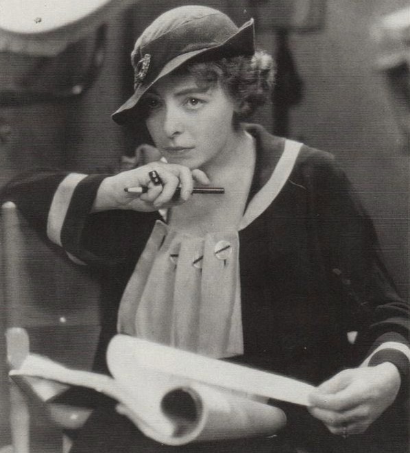 Davenport on the set of  Human Wreckage , 1923