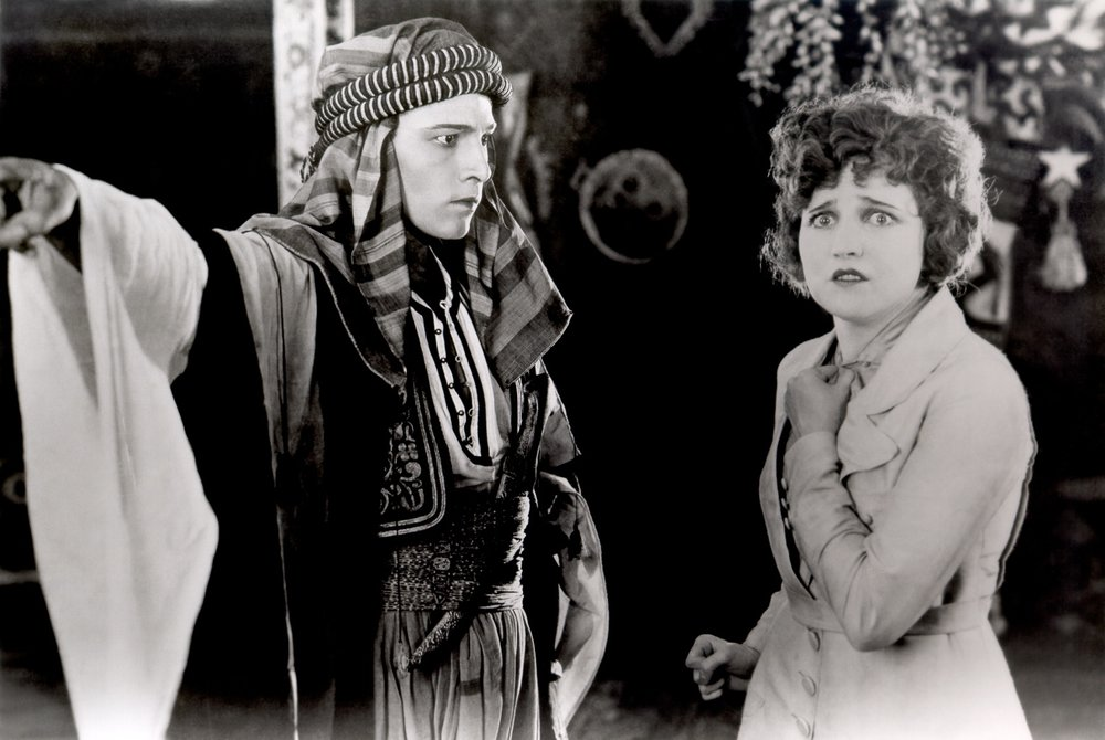 Rudolph Valentino and Agnes Ayres in  The Sheik  1921