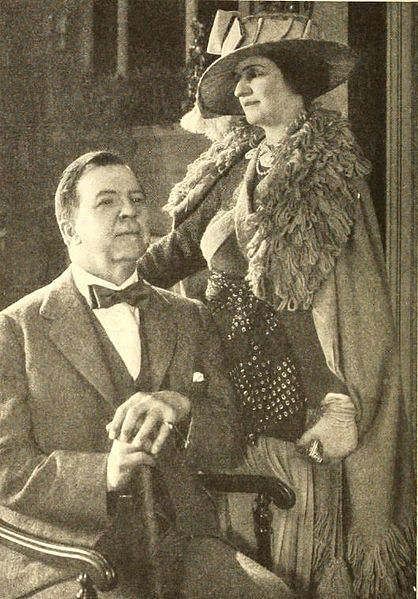 Rupert Hughes and his wife in Photoplay magazine, July 1921