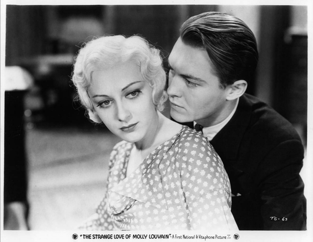 Ann Dvorak and Richard Cromwell in  The Strange Love of Molly Louvain  (1932)