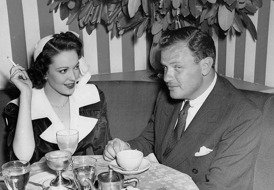 Linda Darnell & Joseph L. Mankiewicz, c. 1948