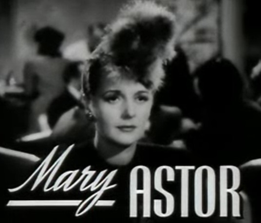 Mary Astor in a still from the trailer for The Great Lie (1941)