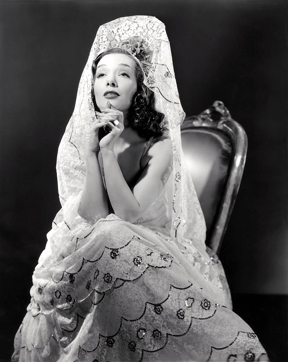 Studio publicity portrait of Lupe Vélez for film Mexican Spitfire, 1940.