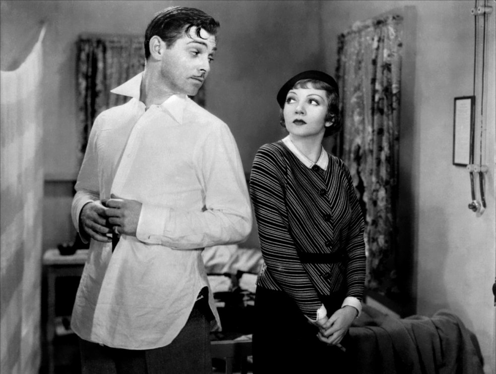 Claudette Colbert and Clark Gable,  It Happened One Night,  1934