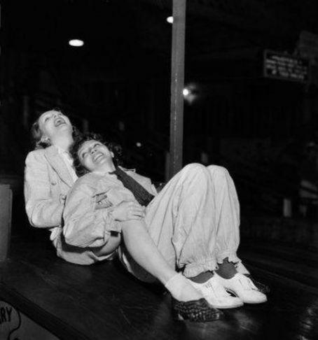 Marlene Dietrich and Claudette Colbert, c. 1935