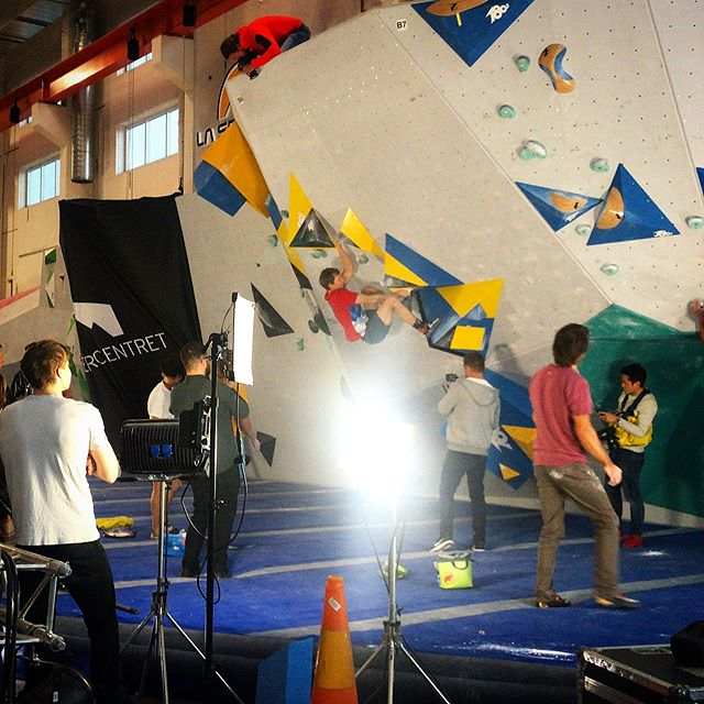 Last week filming in Sweden for @lasportivagram #legendsonly18 #climbing #livestream #cameraoperator