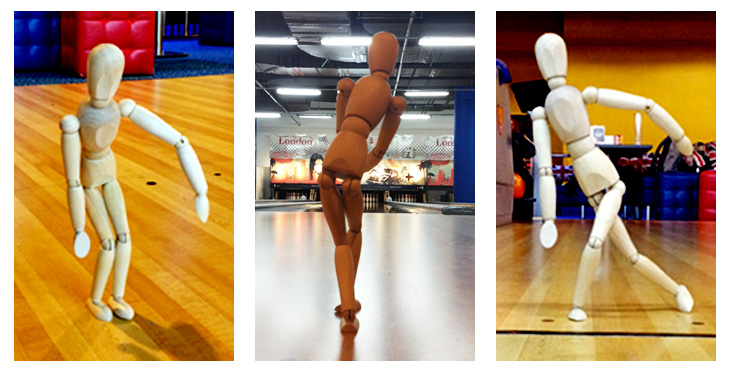 A small artist's mannequin can be used to demonstrate physical poses during training.